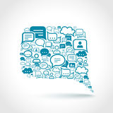 Chat communication concept. Chat communication speech talk text bubble communication concept vector illustration Royalty Free Stock Photos