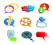 Chat and communication icons Stock Images