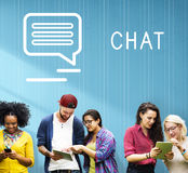 Chat Communication Online Blog Share Concept Royalty Free Stock Images