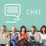 Chat Communication Online Blog Share Concept Stock Images