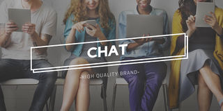 Chat Communication Social Networking Concept Royalty Free Stock Photography