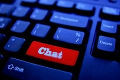 Chat Computer Key Stock Image