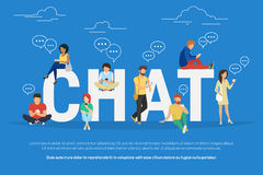 Chat concept illustration Royalty Free Stock Photography
