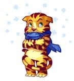 Chat congelé illustration stock