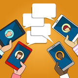Chat connection illustration royalty free illustration