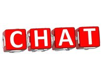 Chat Cube text Stock Images