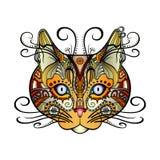 Chat décoratif tribal de vecteur illustration libre de droits