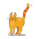 Chat dépouillé par rouge Image stock