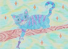 Chat d'Alice Cheshire illustration stock