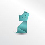 Chat d'origami Photo libre de droits