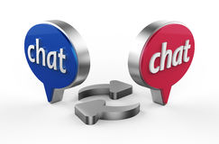 Chat 3D Royalty Free Stock Photography