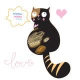 Chat dans l'amour Image libre de droits