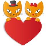 Chat dans l'amour - illustration,  Image libre de droits