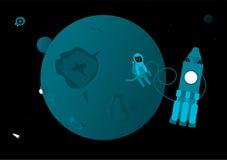 Chat dans l'espace extra-atmosphérique Image libre de droits