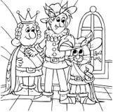 Chat dans les gaines, le marquis et le roi illustration libre de droits