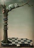 Chat de Cheshire d'affiche d'imagination Image libre de droits