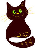 Chat de chocolat illustration libre de droits