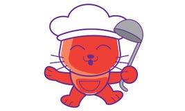 Chat de cuisinier images libres de droits for Cuisinier sel