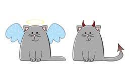 Chat de démon d'ange illustration stock