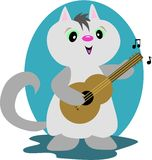 Chat de guitare Photo stock
