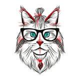 Chat de hippie illustration de vecteur