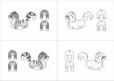 Chat de jouet fait de papier Images libres de droits