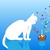 Chat de joyeux anniversaire Photos libres de droits