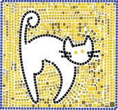 Chat de mosaïque image libre de droits
