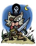 Chat de pirate Photos stock