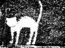 Chat de plâtre sur le mur illustration de vecteur