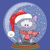 Chat de Santa Image stock