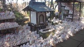 Chat de statue chez Gotokuji ? Tokyo banque de vidéos
