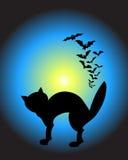 Chat de Veille de la toussaint illustration de vecteur
