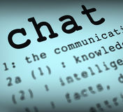 Chat Definition Means Online Communication Or Stock Images