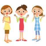Chat der Hausfrau Stockbilder
