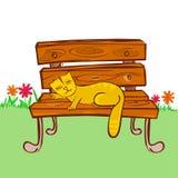Chat dormant sur la présidence Photo stock