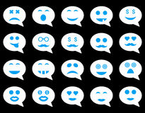Chat emotion smile icons Royalty Free Stock Images