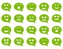 Chat emotion smile icons Stock Image
