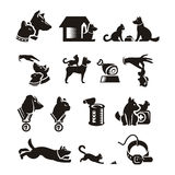 Chat et chien illustration stock