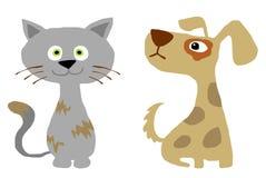 Chat et chien Photographie stock libre de droits