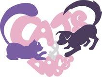 Chat et crabot illustration de vecteur