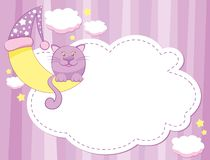 Chat et lune Images stock