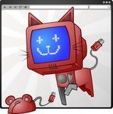 Chat et souris d'Internet Image libre de droits