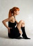 Chat-femme Photographie stock libre de droits