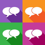 Chat flat icon. Vector EPS 10. Stock Photo