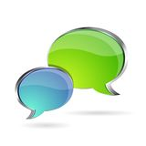 Chat/forum icon. Isolate in white Stock Photos