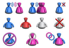 Chat / Forum People Icons (Front View) stock photography