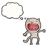 chat fou de bande dessinée Photographie stock libre de droits