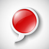 Vector Chat Glossy Icon Royalty Free Stock Images