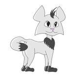 Chat gris drôle Photo stock